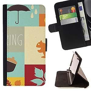 Momo Phone Case / Flip Funda de Cuero Case Cover - Oto?o la nueva primavera - Samsung Galaxy S6