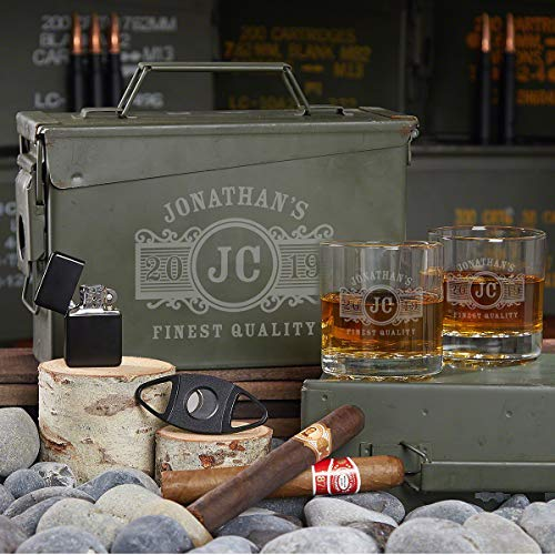 All the Vices Custom Marquee Gift Set for Men in Ammo Can (Customizable Product)