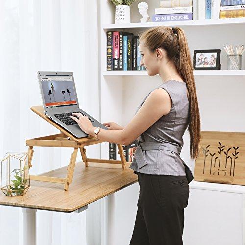 Songmics mesa para ordenador port til de bamb lld002 ebay - Mesa para ordenador portatil ...