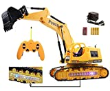 MousePotato Wireless Remote Control Excavator Rechargeable 4WD Truck with Lights