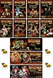 Bundle of 11 Red Dragon Inn Character Expansion Decks Plus 4 Treasure Chest Buttons