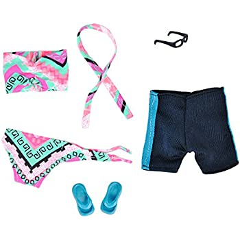875393d64e E-TING Outfit 2 Sets Doll Accessories Bikini Swimsuit Bathing Suit Swimming  Shorts Boy Dolls