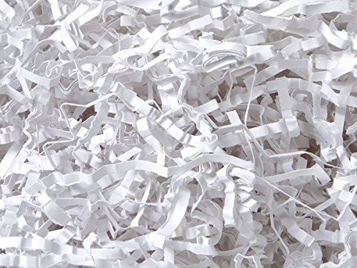 Pack of 1, Solid White Eco Fill Paper Shreds 24 Lb 100% Recycled Made From Heavier Basis Weight of Paper Than Most Competing Shreds & Expands to Twice Volume by Generic
