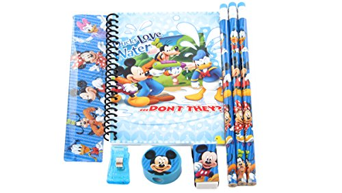- Disney Mickey Mouse Clubhouse Stationary Set School Christmas Gift Set for Boys (Stationary-Blue)
