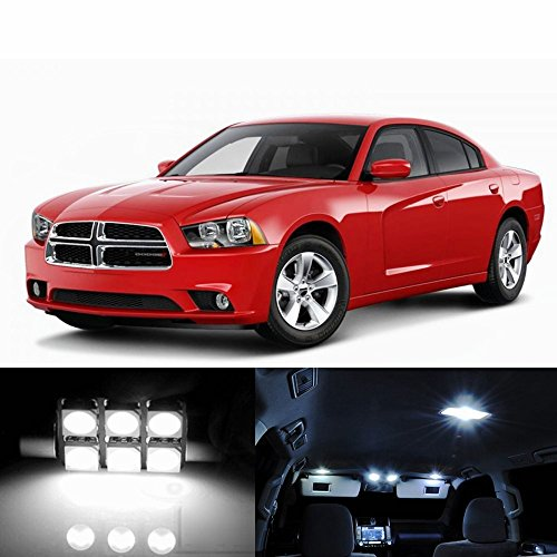21pcs LED Premium Xenon White Light Interior Package Deal for Dodge Charger 2006-2017 Xenon Dodge Charger