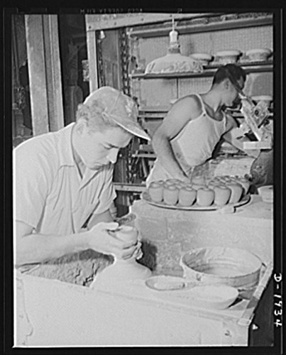 - 1941 Photo Throwing liners to be used in making medical department coffee cups. Shenango Pottery Works, Newcastle, Pennsylvania Location: Lawrence County, New Castle, Pennsylvania