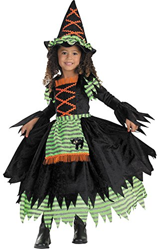UHC Cute Girl's Witch Storybook Toddler Kids Fancy Dress Halloween Costume, 1T-2T