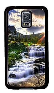 Diy Fashion Case for Samsung Galaxy S5,Black Plastic Case Shell for Samsung Galaxy S5 i9600 with Fairyland