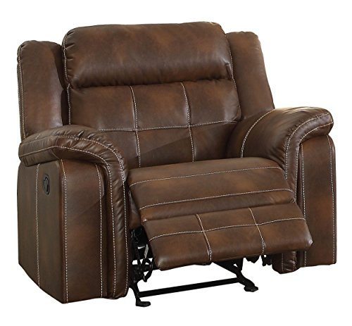 Homelegance Keridge Reclining Chair, Brown For Sale