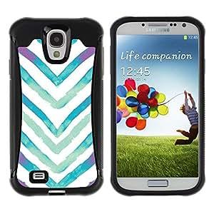 "Pulsar iFace Series Tpu silicona Carcasa Funda Case para Samsung Galaxy S4 IV I9500 , Acuarela Blanco Azul V"""