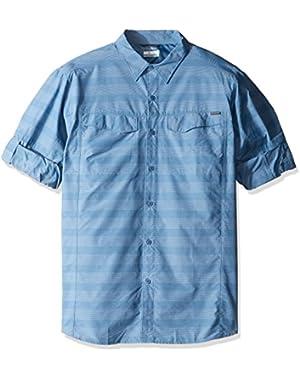 Men's Big-Tall Silver Ridge Plaid Long Sleeve Shirt, Steel Stripe, X-Large