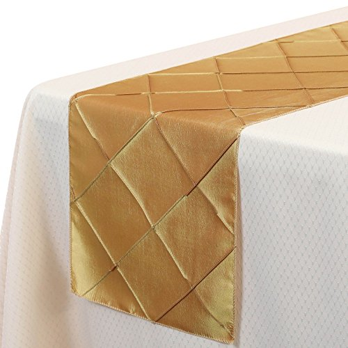 quilted table runner gold - 4