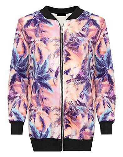 Islander 46 Da Wear It Top 60 Bomber Pink Ladies Floral Zip Plus Size Giacca Donna Flower Print Up Fancy Winter Fashions 4ARqL3j5