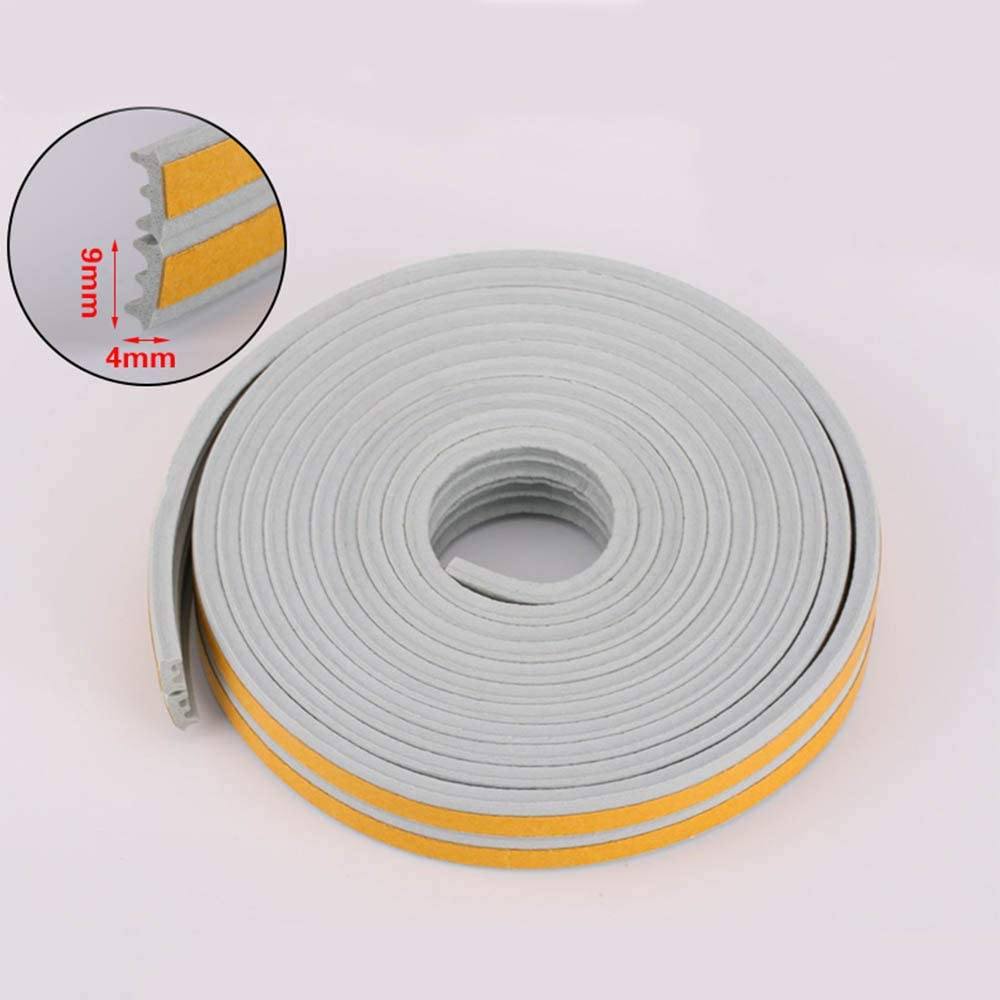65.6ft, White Ursend Self-Adhesive Weather Strip for Door /& Windows Soundproof Seal Strip Collision Avoidance Gap Insulation Foam Weatherstrip