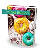 Book Sox Stretchable Book Cover Donuts Fits Most Hardcover Textbooks up to 9x11 Adhesive-Free Nylon Fabric School Book Protector. Easy to Put On Washable & Reusable Jacket