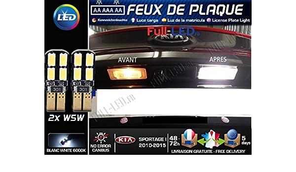Pack Bombillas LED iluminación placa para Kia Sportage 1: Amazon.es: Coche y moto