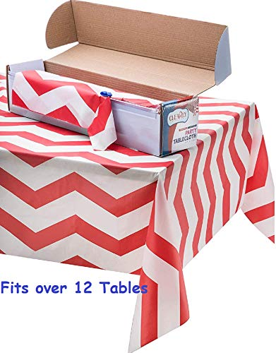 Dr Seuss Table (Heavy Duty Plastic Tablecloth Roll - Durable Plastic Table Cover Roll | Indoor/Outdoor | 52 Inch X 100 Feet | Water Resistant Tablecover | Disposable Table Cloth With Easy To)