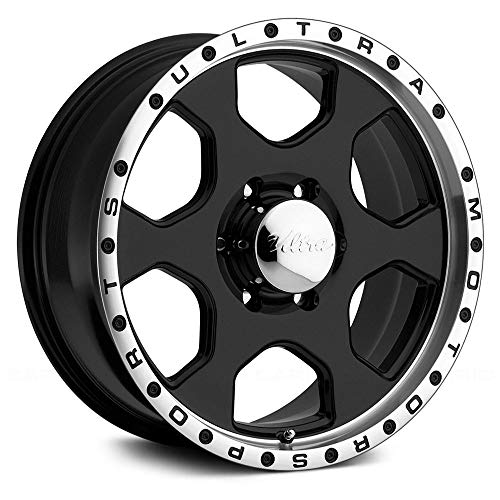 Konig SSM Gloss Black Wheel with Painted Finish and Machined Lip 18 x 10. inches //5 x 4 inches, 15 mm Offset