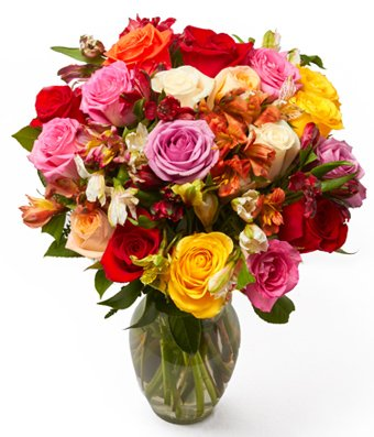 From You Flowers - Roses & Alstros Bouquet - Premium (Free Vase Included)