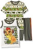 Disney Boys' 3 Piece Lion Guard Kion T-Shirt Muscle Tee and Shorts Set