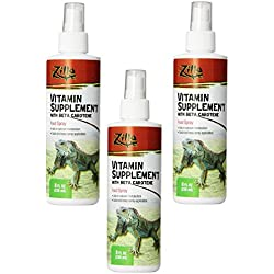 Zilla Vitamin Supplement Food Spray, 8 Ounce (3 Pack)