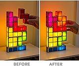 Original Tetris LED Games Light Stackable Constructible Tetris lamp Desk Lamp Toys Night Light 7 Individual Pieces