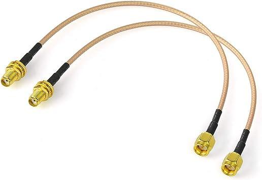 Amazon.com: Bingfu SMA - Cable coaxial SMA hembra a SMA ...