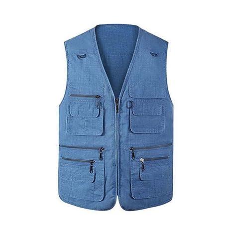 a06ef4e9063d Adelina Gilet da Uomo Leggero in Cotone per Tempo Abbigliamento Libero  Estivo Il da Uomo Plus