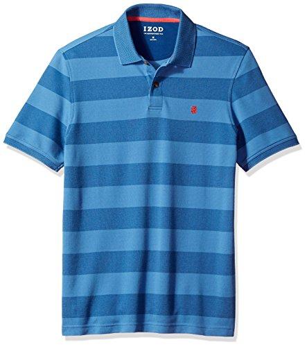 IZOD Men's Advantage Performance Stripe Polo, Federal Blue, Medium