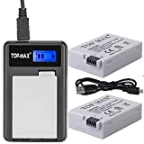 TOP-MAX 2-Pack of LP-E8 Batteries and LED Display USB Battery Charger for Canon EOS Rebel T2i, T3i, T4i, T5i, EOS 550D, EOS 600D, EOS 650D, EOS 700D DSLR Digital Camera