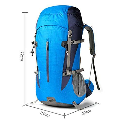 GAOLIXIA Outdoor Rucksack Camping Klettern Taschen 50L Reisen Wanderrucksack A