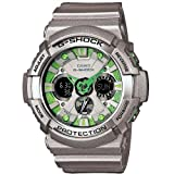 G-Shock Men's GA200SH Metallic Colors Series Quality Watch - Grey/Green Face