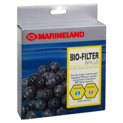 Marineland PA11486 Canister Filter Bio-Balls for C-Series Filters, 90-Count (Filter Bio Balls Series)