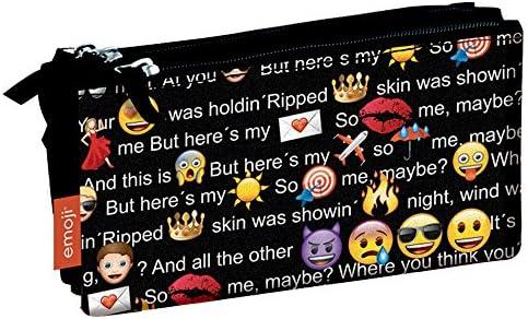 Emoji- Estuche portatodo Triple Plano, 22 x 12 x 4 cm (Montichelvo 54231): Amazon.es: Juguetes y juegos