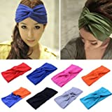 Women Turban Twist Headband Head Wrap Twisted Knotted Knot Soft Hair...