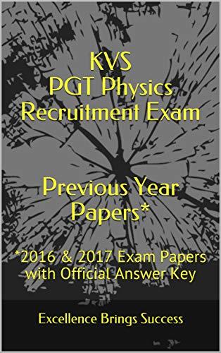 Amazon com: KVS PGT Physics Recruitment Exam Previous Year
