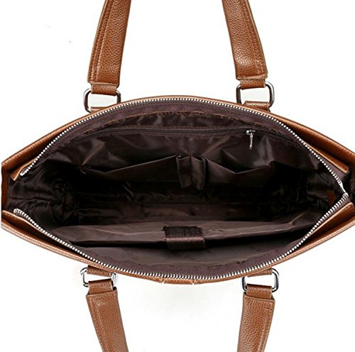 Large Computer Business Men Handbag Shoulder Capacity Brown3 Fashion 's Horizontal Messenger Leisure Bag qqAEwO