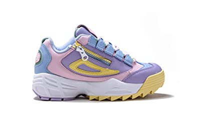616c1df7ece3 Fila Womens Disruptor 3 Zip Purple Multi Sneaker - 6.5