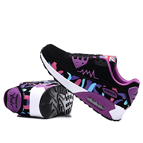Air Fitness Femmes Jogging Léger Choc Sport Running Dames Absorbant Chaussures Gomnear Sneaker Trainers Gym Violet qW0pvB