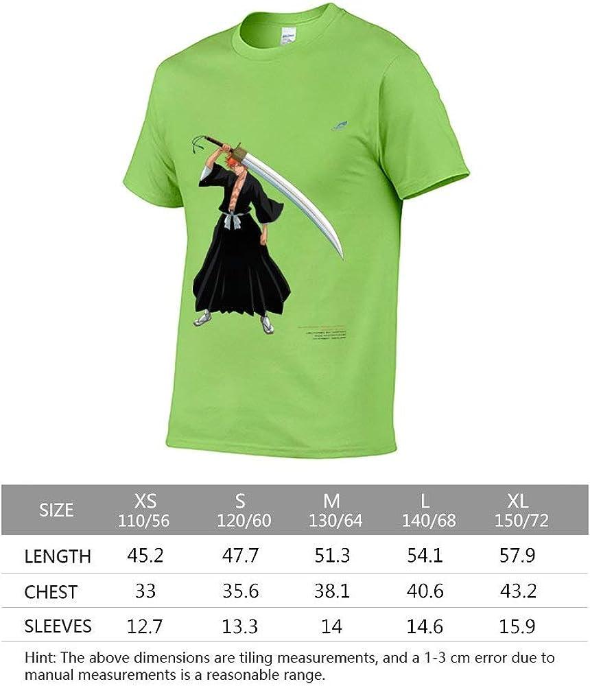 YingTanShiYue Childrens T-Shirts BLE-ACH Anime Kurosaki Ichigo boy and Girl