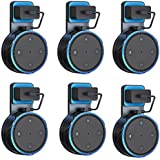 Penck Outlet Wall Mount Hanger Holder Stand Only for Amazon Echo Dot 2nd Generation Without Mess Wires Or Screws, Compact Holder Case Plug in Kitchens, Bathroom and Bedroom (6-Pack)