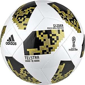 adidas World Cup Glide Balón, Hombre, (Blanco/copgol/Dormet), 3