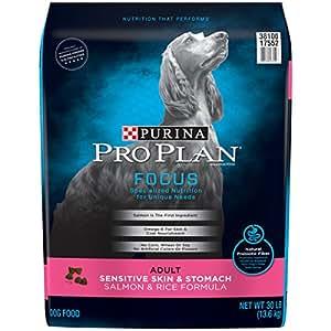 Purina Pro Plan FOCUS Sensitive Skin & Stomach Salmon & Rice Formula Adult Dry Dog Food - 30 lb. Bag