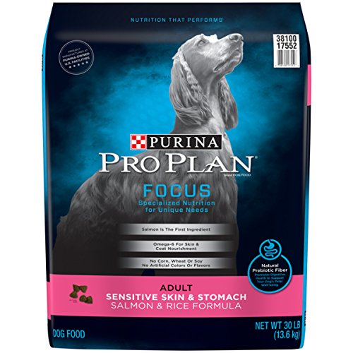 Purina Pro Plan Focus Sensitive Skin & Stomach Salmon & Rice Formula Adult Dry Dog Food – 30 Lb. Bag For Sale