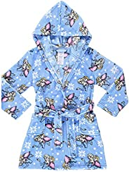 Girls Sleep Robe - Soft & Comfy Fleece Hooded Bath