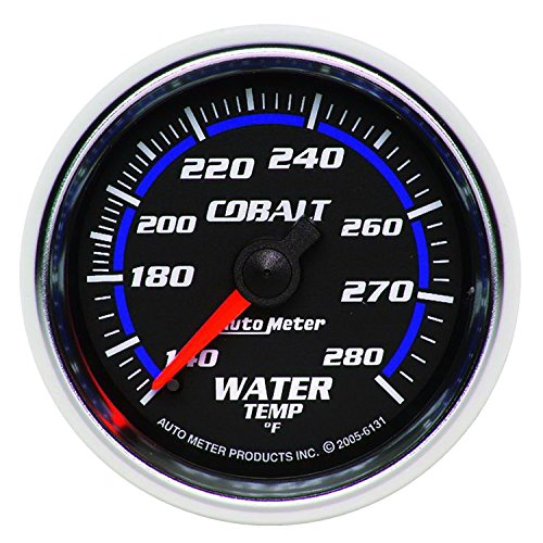 Carbon Fiber Mechanical Water (Auto Meter 6131 Cobalt Mechanical Water Temperature Gauge)