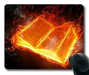 3D Fire book Masterpiece Limited Design Oblong Mouse Pad by Cases & Mousepads