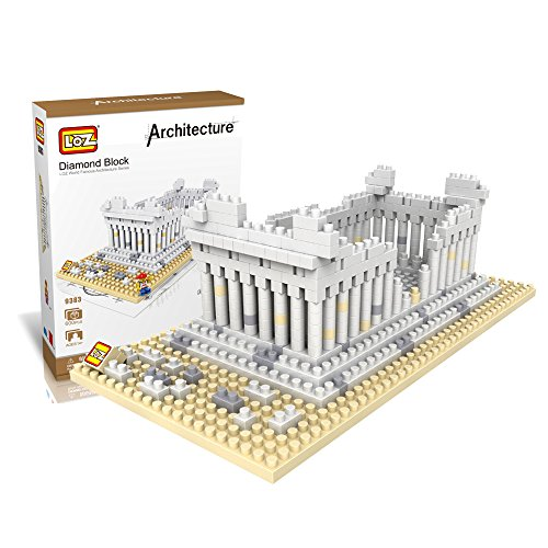 LOZ Building & Construction 9383 Greece Temple Building Blocks (600 Piece)