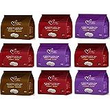 Senseo Capsulas Compatibles 162 ud (9 x18 Monodosis de Café Degustación 3 Variedades)