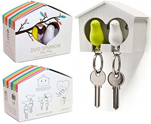 Tia-Ve Duo Sparrow Bird House /& Keyrings GW